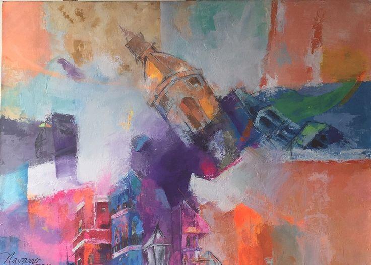 Mirando el caos Acrlico sobre lienzo Carmen Alicia Navarro