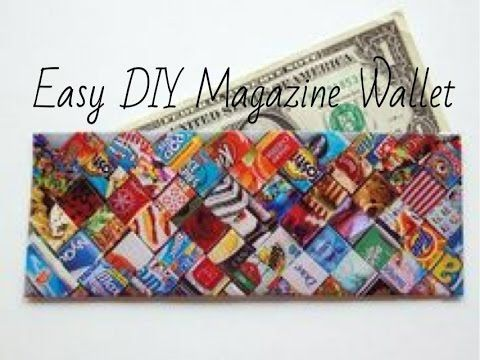 DIY Magazine Wallet/Clutch - YouTube