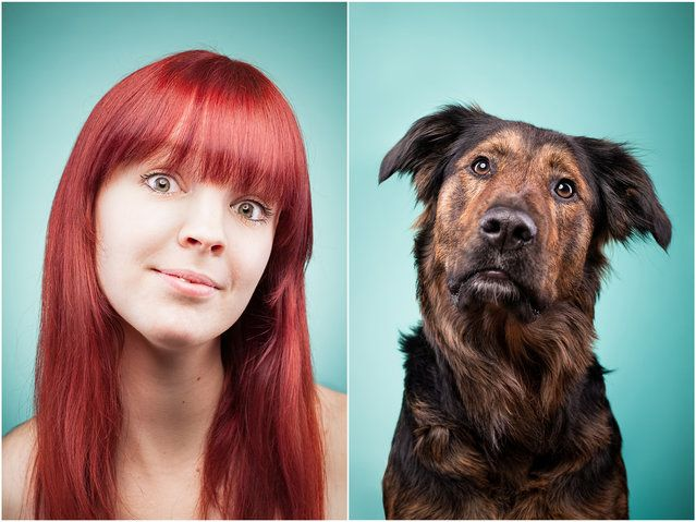 AnnChristin and Paula the dog. (Photo by Ines Opifanti/Caters News)| Petnook.com #Petnook