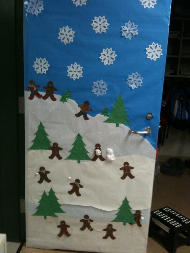 Winter Classroom Idea : Best winter door decoration ideas images on pinterest