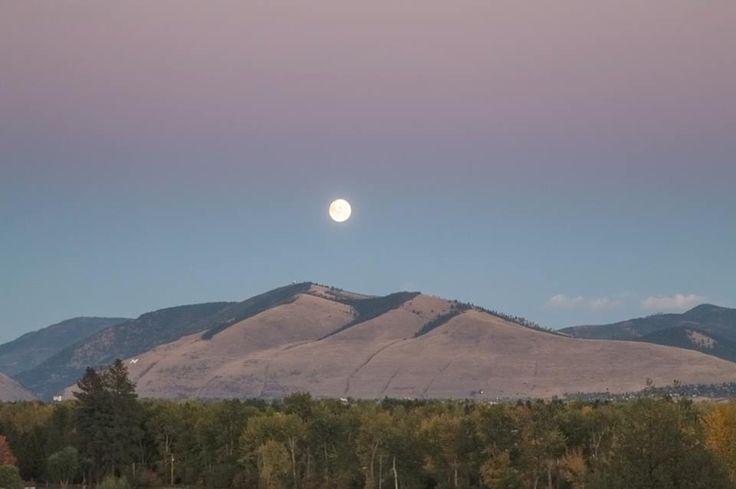 Moonrise over Missoula Montana ©Mark Mesenko