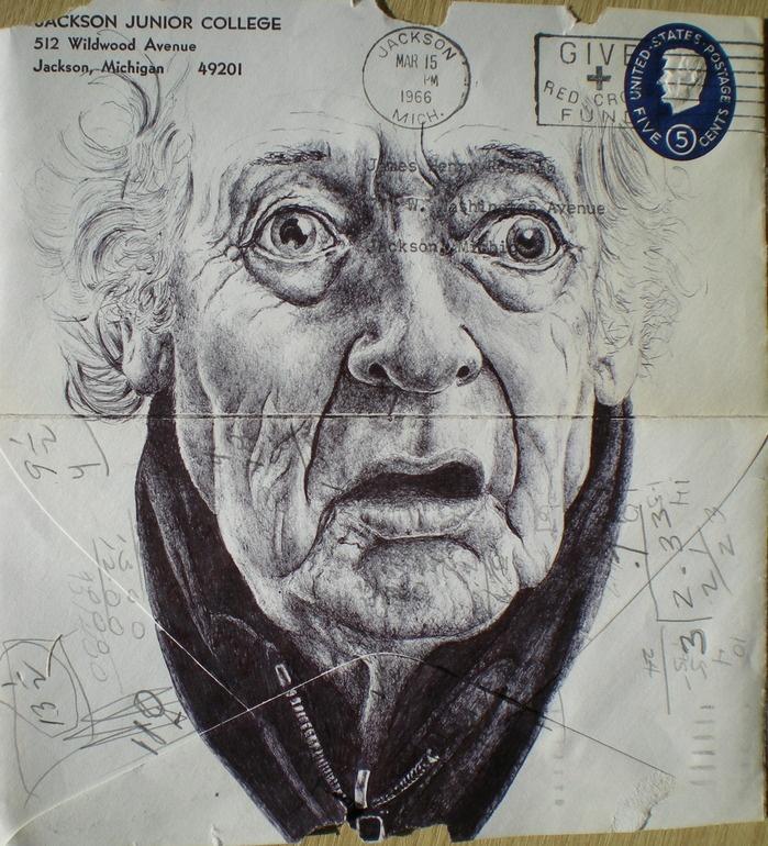 Biro By Mark Powell of London: Pens Drawings, Pens Art, Envelopes Drawings, Art And Crafts, Pens Bureau, Mark Powell, Art Prints, Canvas, Envelopes Art