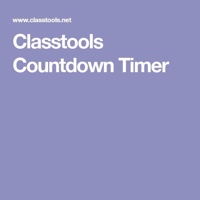 Classtools Countdown Timer