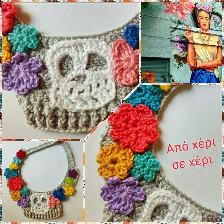 #my #sweet #frida #fridakahlo  #Γλυκιά μου #φρίντα #φρίντακάλο #crochetjewelry #πλεκτό #κόσμημα