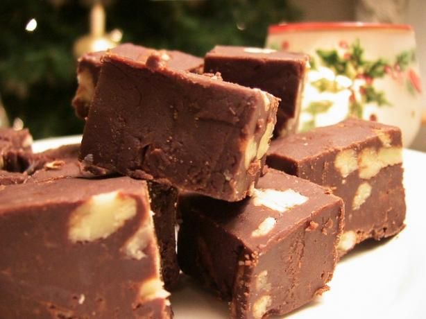 """The Best Kahlua and Coffee Fudge! from Food.com:   This is an amazing recipe for the most wonderful Kahlua and coffee fudge that you will ever taste! My favorite Kahlua fudge, by far! And nothing could be simpler. Enjoy with a cup of coffee and you will be in heaven. Perfect for holiday cookie trays or gift giving. From Taste of Home """"Best of Christmas""""."""