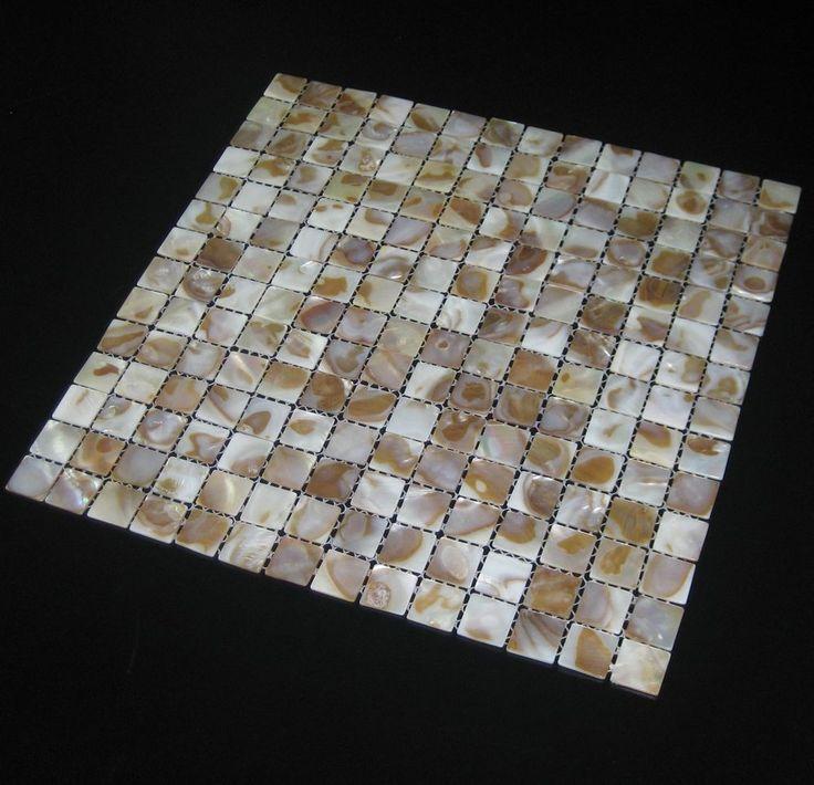 Shell Tile Mother of pearl mosaics for kitchen backsplash bath mirror wall tiles #TST