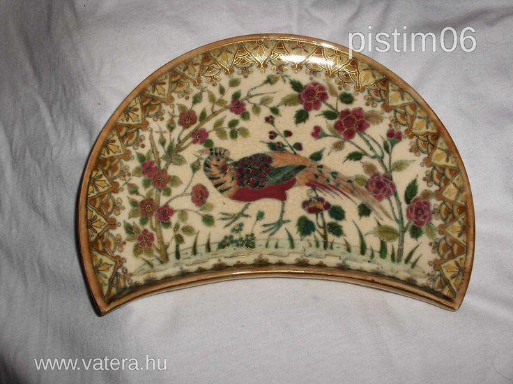 Zsolnay csontos tányér
