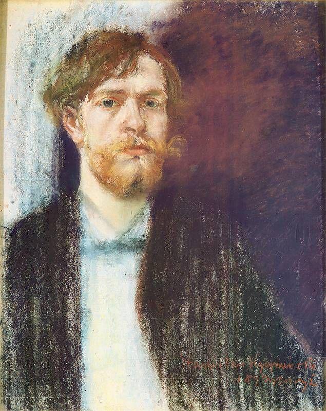 Self-portrait in Sapphire Blue, 1894  Pastel, paper, 56,5 x 45 cm Signed bottom right: Stanisław Wyspiański | 1894 r. Paryż.   National Museum in Warsaw