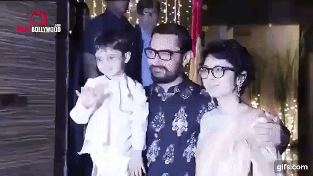Aamir Khan Diwali Celebration with Kiran Rao
