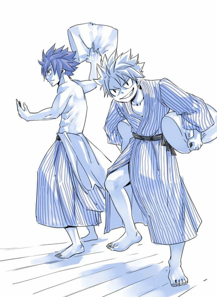 Natsu and Grey @hiro_mashima on Twitter