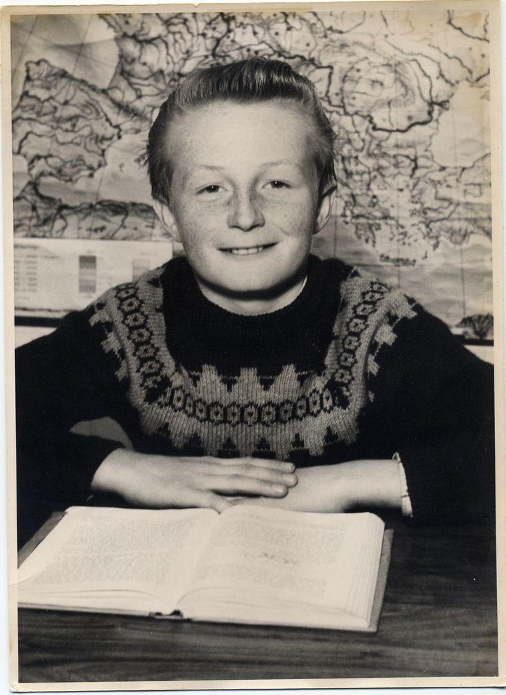 I august 1956 begyndte Lars Larsen i 1. klasse på Hurup Kommuneskole. Billedet her er fra 5. klasse.