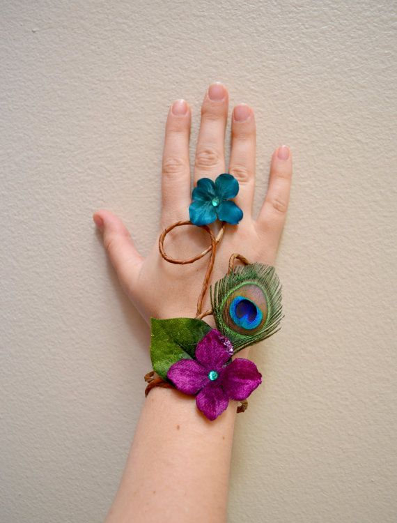 Peacock Bracelet by Frecklesfairychest on Etsy, $20.00