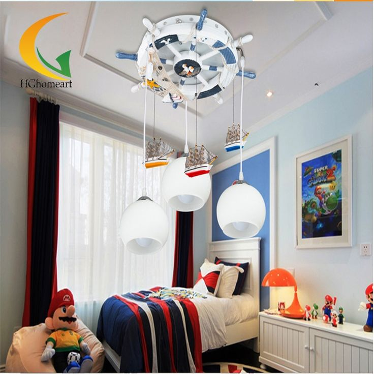 153.34$  Buy now - http://alipym.worldwells.pw/go.php?t=32642569794 -  remote control boys and girls Led Pendant Lights  Mediterranean 110V-220V E27 ceiling Cartoon led pendant light 153.34$