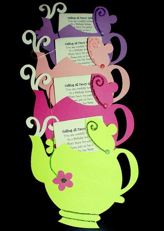 Uitnodigingen high tea kinderfeestje