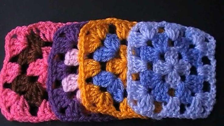 Cuadrados de la abuelita ( Crochet)