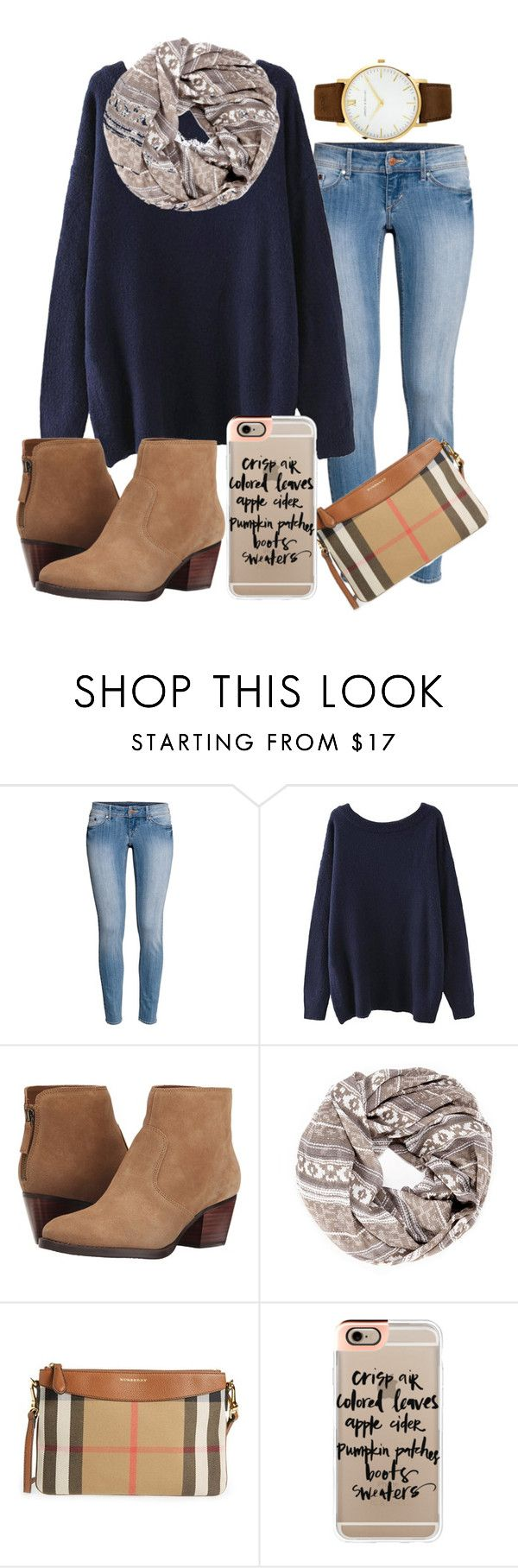 """Cause girl you're perfect, you're always worth it "" by madelyn-abigail ❤ liked on Polyvore featuring H&M, Nine West, Sole Society, Burberry, Casetify and Larsson & Jennings"
