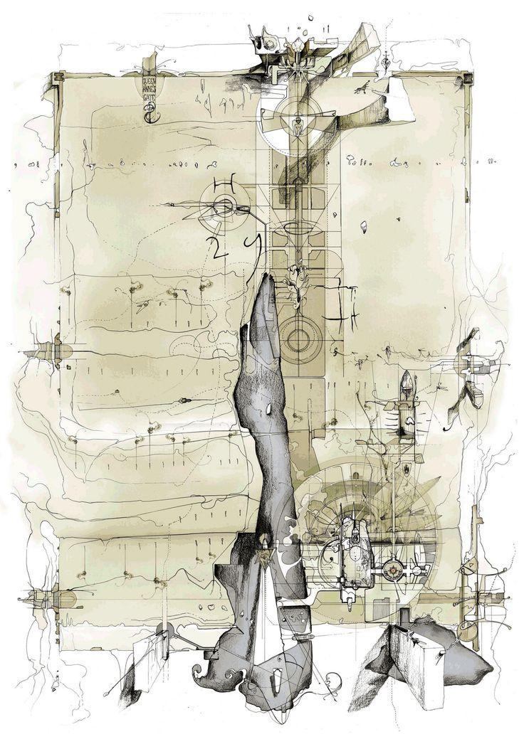 DAN SLAVINSKY: 'Arcadia' (plan and satellite images'