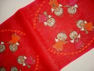Retro Christmas danish textile table runner from INKA PRINT - 1970es. Material is jute. 31 x 125 cm. #retro #danish #christmas #textile #1970 #dansk #jul #tekstil #bordloeber #inka #print. SOLGT.