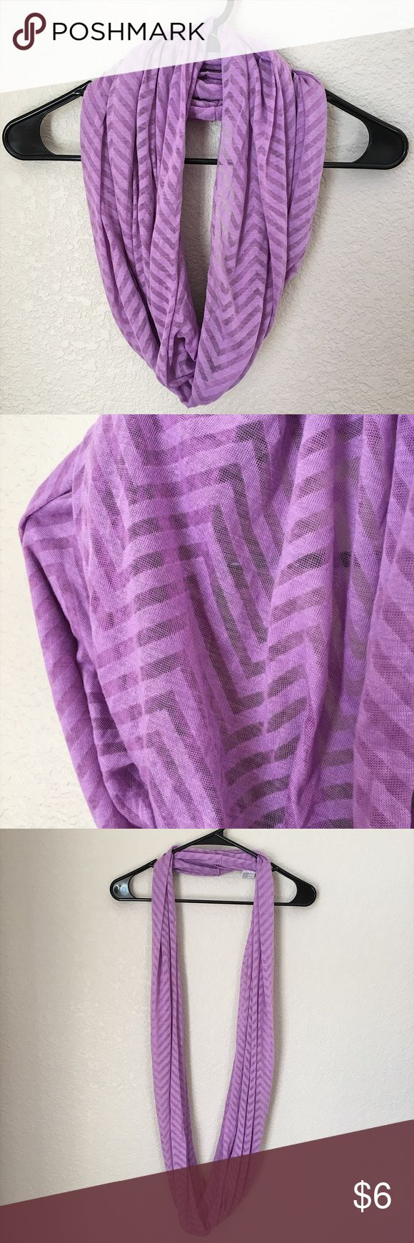 Chevron Infinitely Scarf Adorable light purple infinity scarf with a chevron pattern. Light weight. Accessories Scarves & Wraps