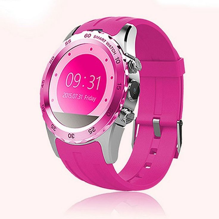 KW08 Bluetooth Smart Watch Sports Smart Watch NFC Wrist GSM Smart Watch (Pink/Silver). KW08 Bluetooth Smart Watch Sports Smart Watch NFC Wrist GSM Smart Watc. Bluetooth function: Make calls and play music for Android & IOS. Sync contact information and notification push only for Android. Gesture Control.Light the screen by raising hand. Turn over at 90 angel forward and turn back ,the screen turns bright when the watch is dark. 350mah Polymer battery capacity,safe and reliable Various…