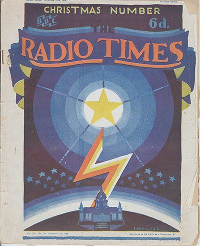 The cover of the Christmas Radio Times from 1927