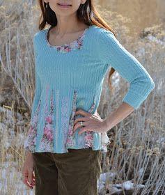 Tea Rose Home: Tutorial ~ Sweater Refashion