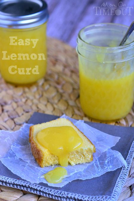 Homemade Microwave Lemon Curd. Delight in the refreshingly tart lemon flavor of lemon curd - right from your microwave!  MomOnTimeout.com