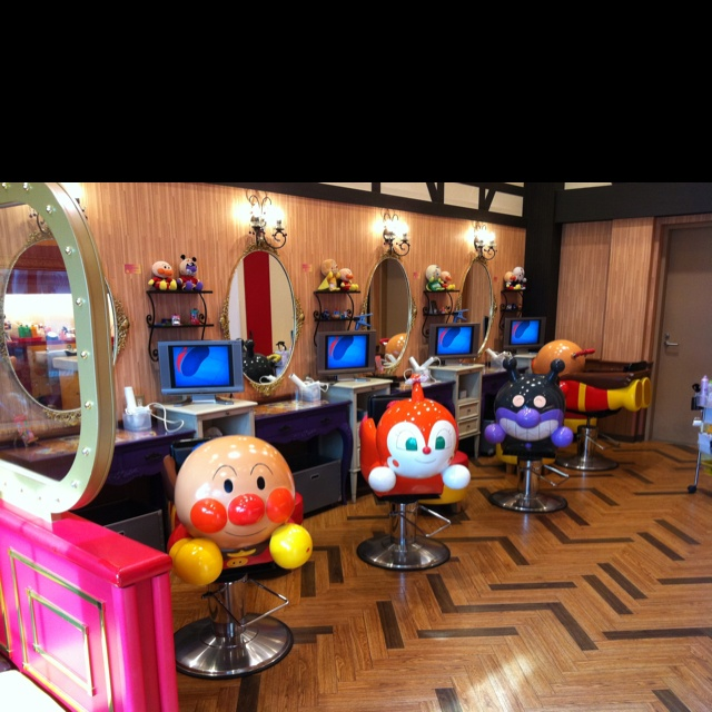 Children's hair salon at Anpanman Museum & Mall, Yokohama, Japan