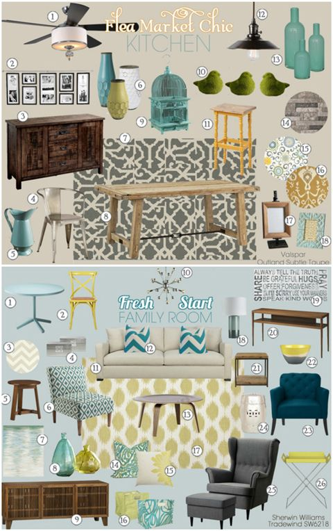 Teal and Lime Custom Mood Boards (from IHeart Organizing: Feeling Joy in January)