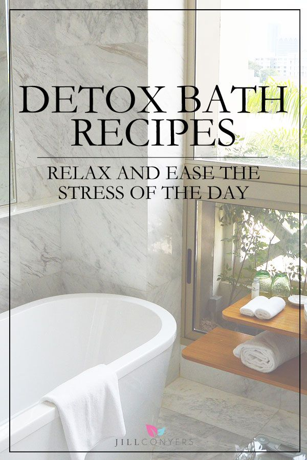 Try these DIY Detox Bath recipes for a mini-spa day at home. Imagine. A hot lavender scented bath, candles and soft music. Sounds heavenly doesn't it. @jillconyers