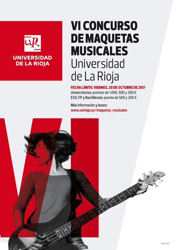 VI Concurso de Maquetas Musicales de la UR, dotado con 2.500 euros en premios. Fin del plazo: 20 de octubre.
