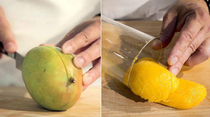 'Spar masse tid og strev med dette smarte trikset neste gang du skal spise mango.' - Genialt:D