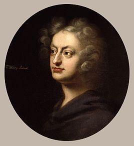 Henry Purcell by John Closterman. Генри Пёрселл (10.09.1659(?), Лондон-21.11.1695,там же) англ. композитор,представитель стиля барокко.Несм.на включ. стилистич.элементов итал.и франц.музыки,наследие Пёрселла явл.англ.формой музыки барокко.В 1692 он соч. «Королеву фей» (англ.The Fairy-Queen) (по мотивам«Сна в летнюю ночь»Шекспира),Затем послед.«Королева индейцев» (англ.The Indian Queen) в 1695г.,в том же году Пёрселл написал песни к версии шексп.«Бури» драматургов Драйдена и Давенанта.