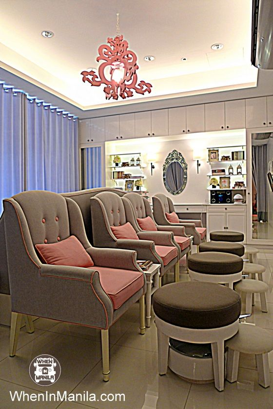 i like this idea im tired of the huge pedicure chairs - Nail Salon Ideas Design