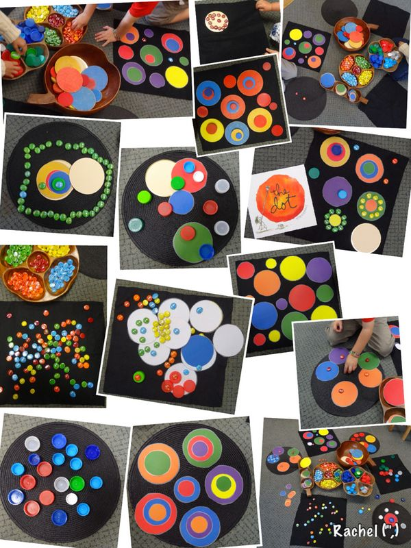 "Simple transient art with Dots, Spots & Circles... from Rachel ("",)"