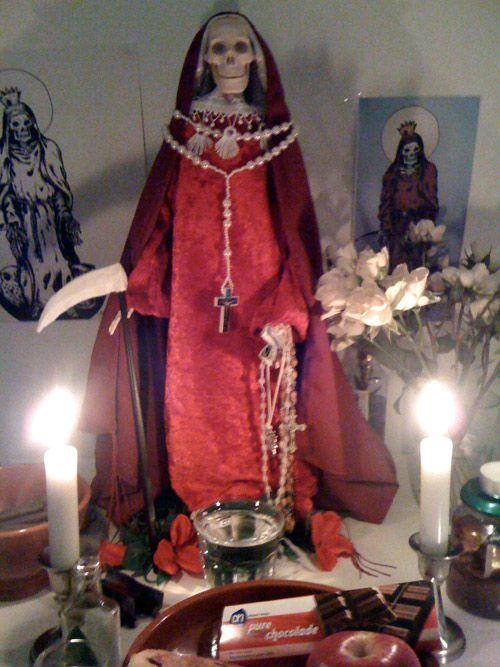 Altars:  Santa Muerte #Altars.