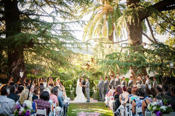 A romantic enchanted forest wedding at Wine & Roses Hotel in California's OTHER wine country: Lodi | Northern California wedding venues outdoor (Julie Nicole Photography)