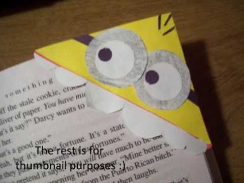 DIY Minion Bookmarks