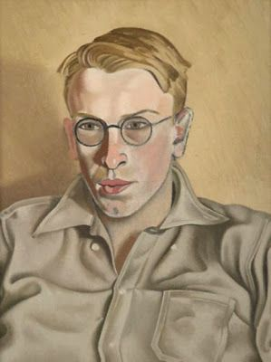"New Zealand painter Rita Angus (1908-1970) - Portrait of ""Quentin Angus"" 1944"