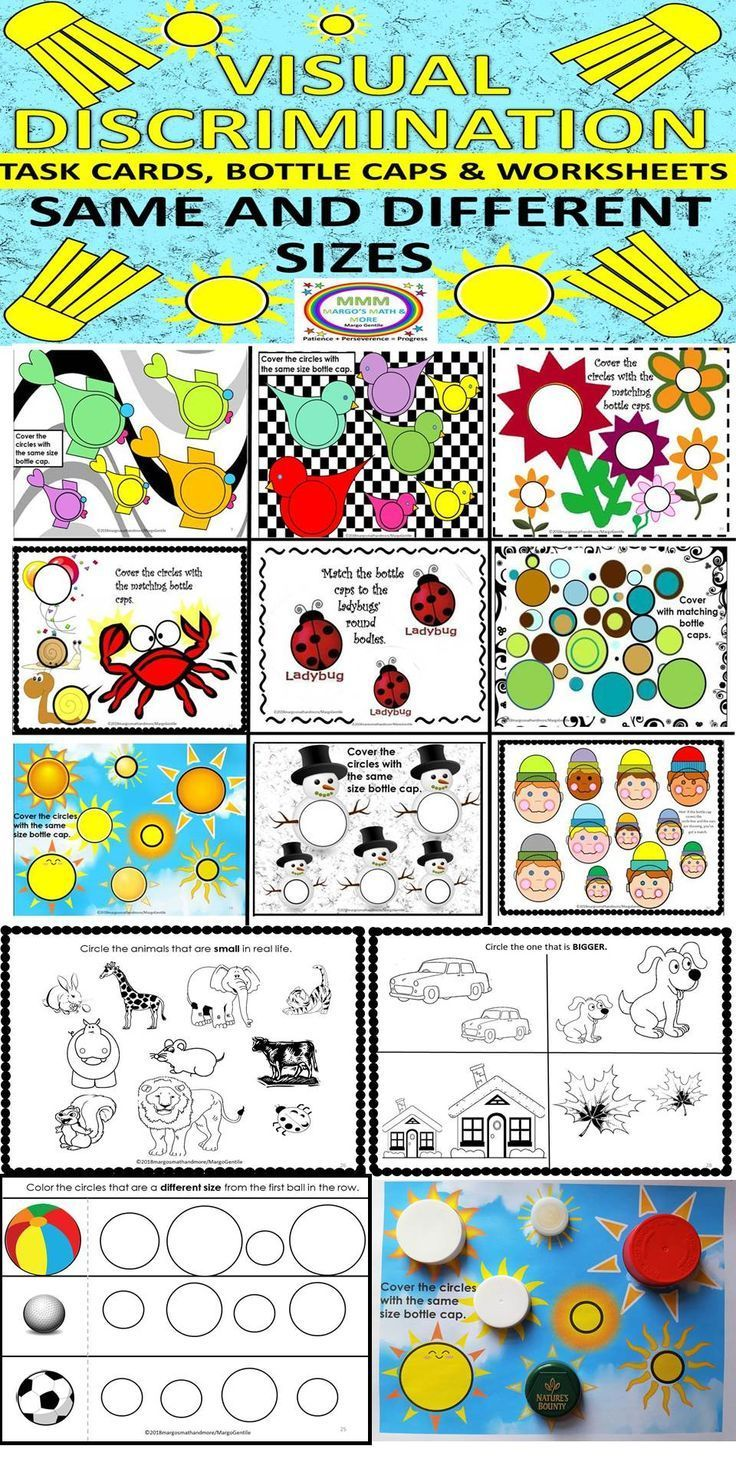 Pin By Darla Taylor On Manipulative For Special Ed Task Cards Visual Discrimination Visual Discrimination Activities