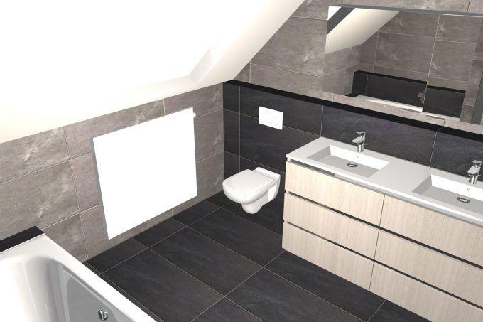 25 beste idee n over betegelde badkamers op pinterest badkamers kleine grijze badkamers en - Badkamer in een kamer ...