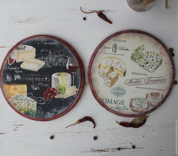 Купить Сырные досочки - коралловый, сыр, сырная доска, доска для сыра, для сыра, доска разделочная