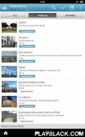 Texas Travel Guide By Triposo  Android App - playslack.com , Features of Triposo's guide to Texas:★ Suggestions of what's interesting to see and do in Texas, depending on time, weather and your location;★ A detailed sights section with all the monuments of San Antonio, Austin, Houston, Fort Worth;★ Eating out section with the best restaurants in San Antonio, Austin, Houston, Fort Worth;★ Discover the nightlife of Texas! Bars, pubs & disco's in San Antonio, Austin, Houston, Fort Worth;★…