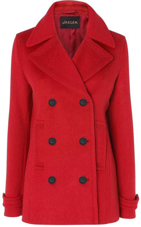 Jaeger red pea coat