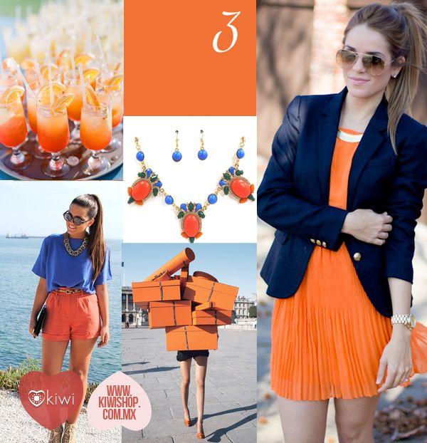 El 3er color en nuestro Top 10 para la siguiente temporada: Celosia Naranja, combínalo con el color azul en accesorios y ropa.