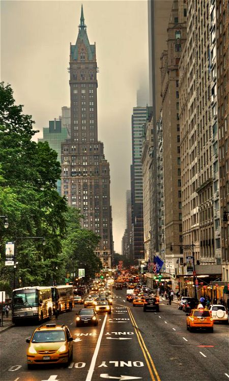 Central Park South in New York City