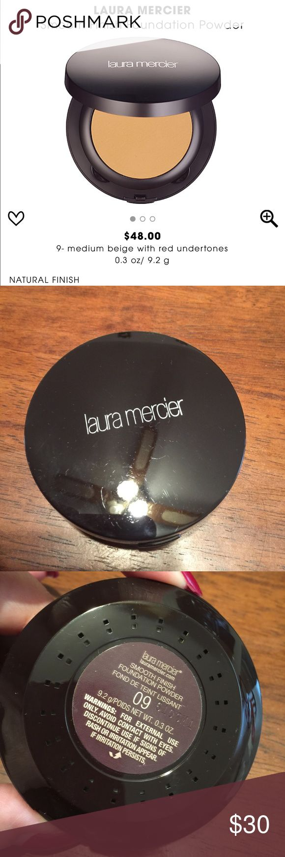 laura mercier ~ smooth finish foundation powder 09 laura mercier ~ smooth finish foundation powder ~ Shade is  09-Medium Beige with Red Undertones ~ Has been swatched ~ Makeup applicator has not been used ~ No Box ~ 💯% Authentic ~ Bundle & save an additional 10% laura mercier Makeup Foundation
