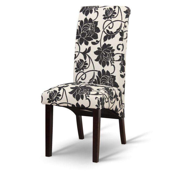 Drevené : Jedálenská stolička, biela/tmavý orech, JUDY