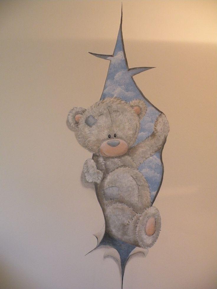 Me to you bear wallpainting / muurschildering