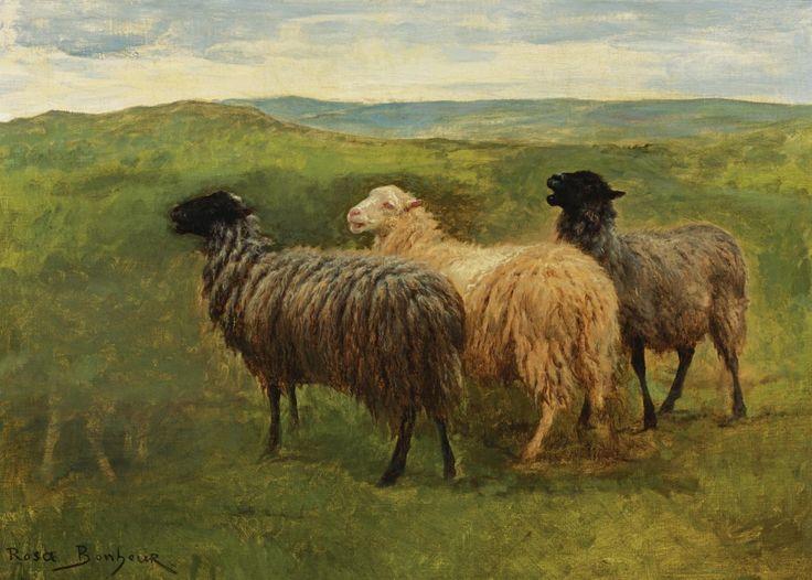 Rosa Bonheur Sheep on Meadow | Painted Creatures ...